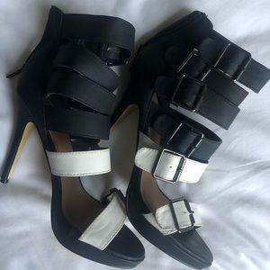Michael Antonio Black and White Platform Shoes